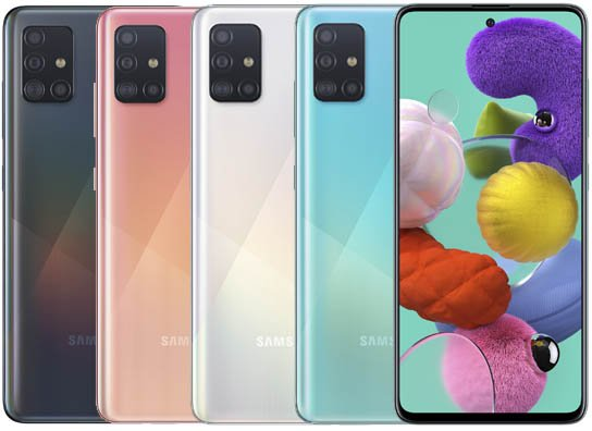 ألوان Samsung A51