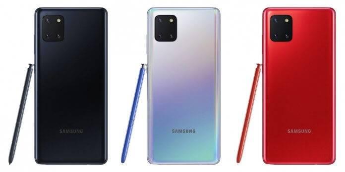 ألوان Samsung Note 10 Lite
