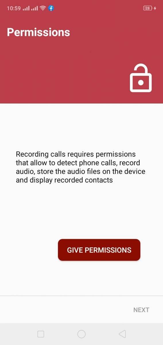 تصريحات استخدام برنامج automatic call recorder