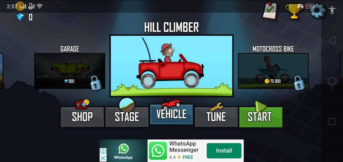 اختيار السيارة المناسبة في لعبة هيل كليمب ريسينج