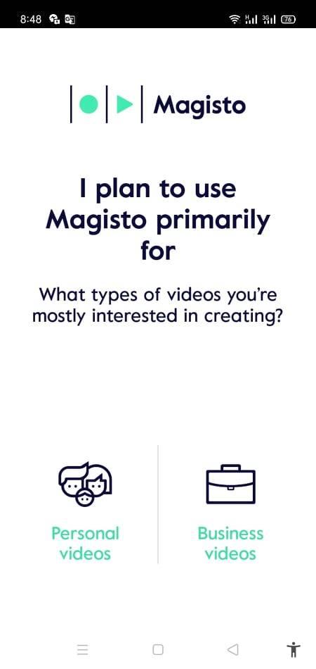 نوع الفيديو الذي تريد صنعه