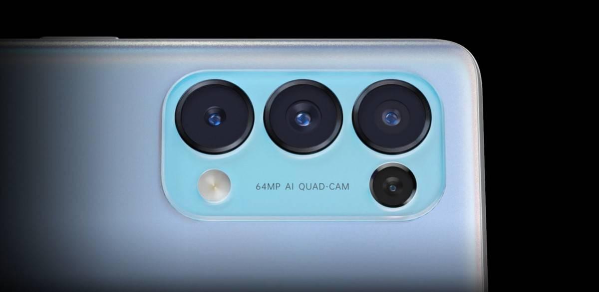 كاميرات Oppo Reno 5 5G الخلفية
