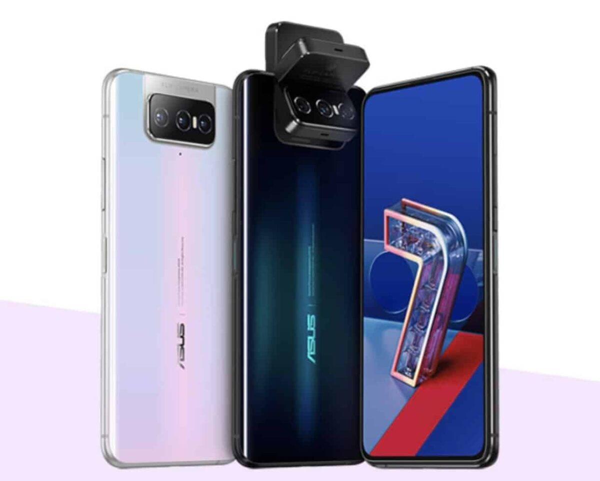 ألوان و دوران كاميرات Asus Zenfone 7