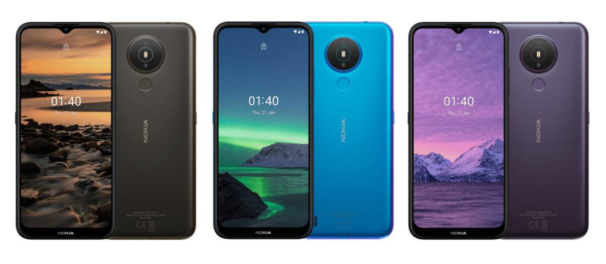 Face and back design for all Nokia 1.4 colors